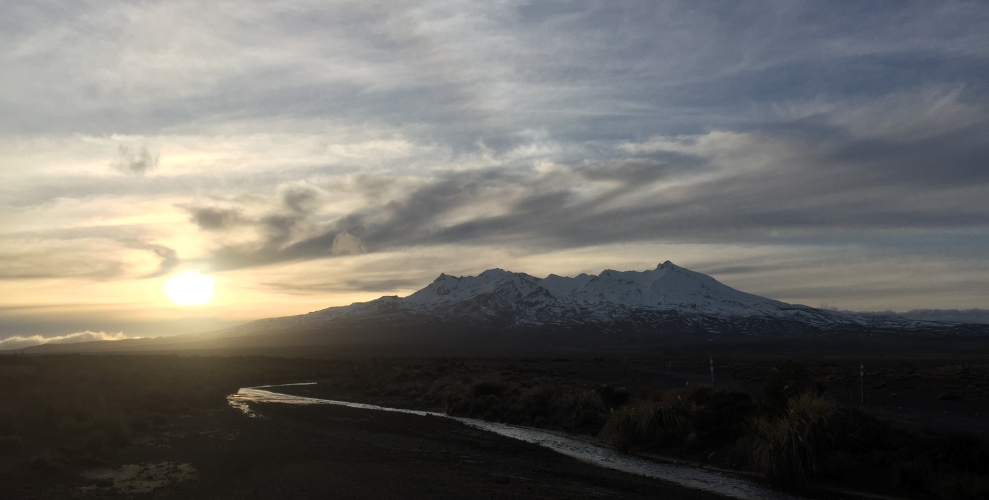 Eastern Ruapehu at Sunset